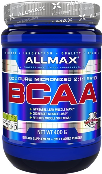 AllMax Nutrition BCAA 2:1:1, Powder - 400g