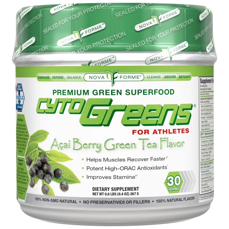 AllMax Nutrition CytoGreens, Acai Berry Green Tea - 267g