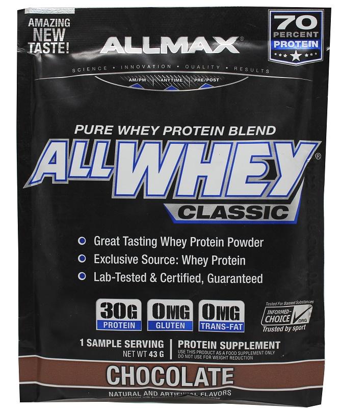 AllMax Nutrition AllWhey Classic, Chocolate - 43g (1 serving)