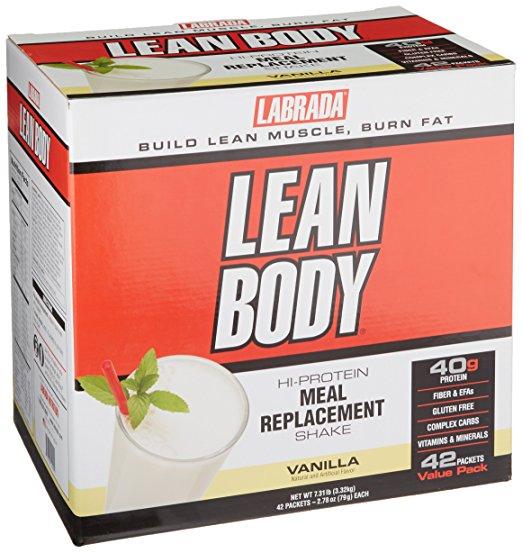 Lean Body Meal Replacement Shake, Vanilla - 40 packets versandkostenfrei/portofrei bestellen/kaufen