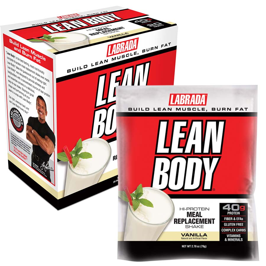 Lean Body Meal Replacement Shake, Strawberry - 20 packets versandkostenfrei/portofrei bestellen/kaufen