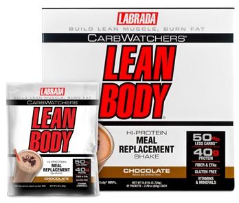 Carb Watchers Lean Body MRP, Chocolate - 42 packets versandkostenfrei/portofrei bestellen/kaufen