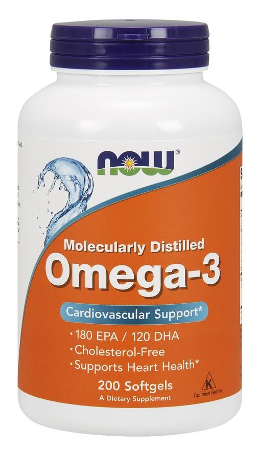Omega-3 Molecularly Distilled Fish Oil - 200 softgels versandkostenfrei/portofrei bestellen/kaufen