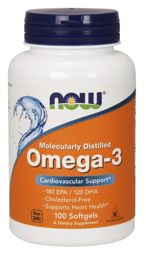Omega-3 Molecularly Distilled Fish Oil - 100 softgels versandkostenfrei/portofrei bestellen/kaufen