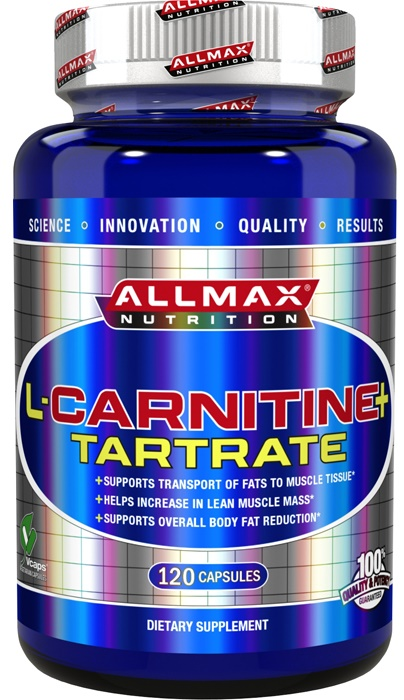 AllMax Nutrition L-Carnitine + Tartrate - 120 caps