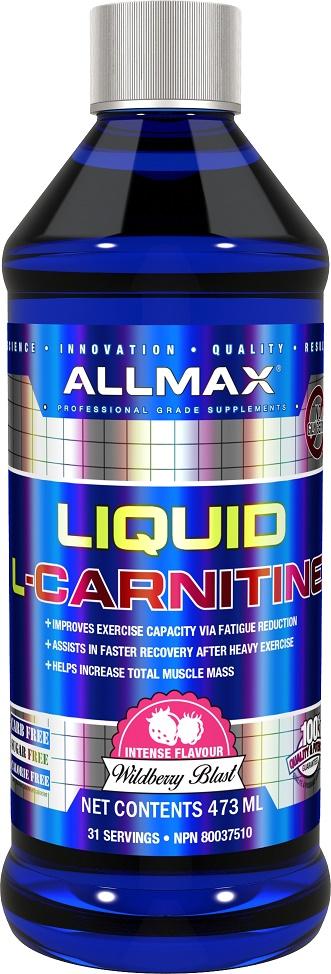 AllMax Nutrition Liquid L-Carnitine, Wildberry Blast - 473 ml.