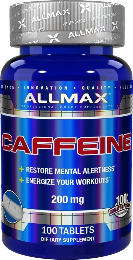 AllMax Nutrition Caffeine, 200mg - 100 tablets