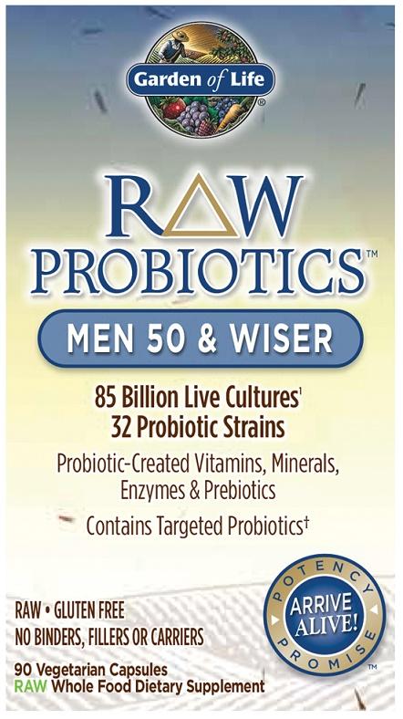 Raw Probiotics Men 50 & Wiser - 90 vcaps versandkostenfrei/portofrei bestellen/kaufen