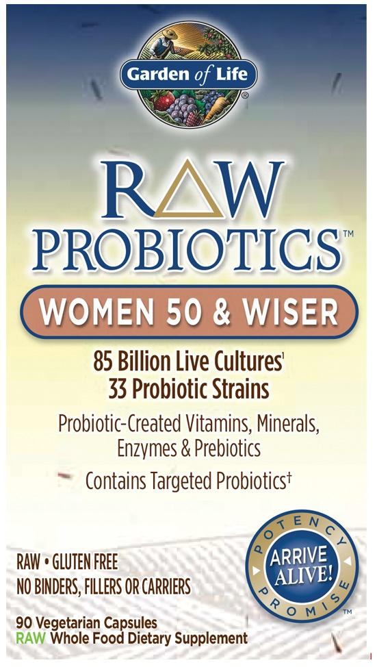 RAW Probiotics Women 50 & Wiser - 90 vcaps versandkostenfrei/portofrei bestellen/kaufen