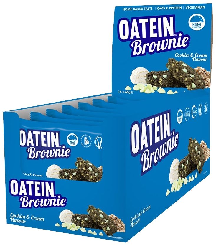 Oatein Brownie, Cookies & Cream - 15 brownies versandkostenfrei/portofrei bestellen/kaufen