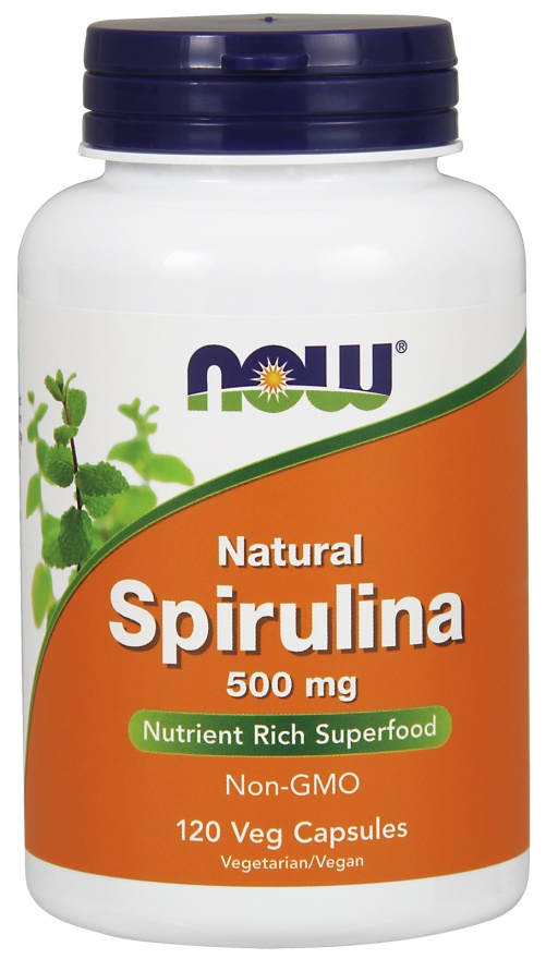 Natural Spirulina, 500mg - 120 vcaps versandkostenfrei/portofrei bestellen/kaufen