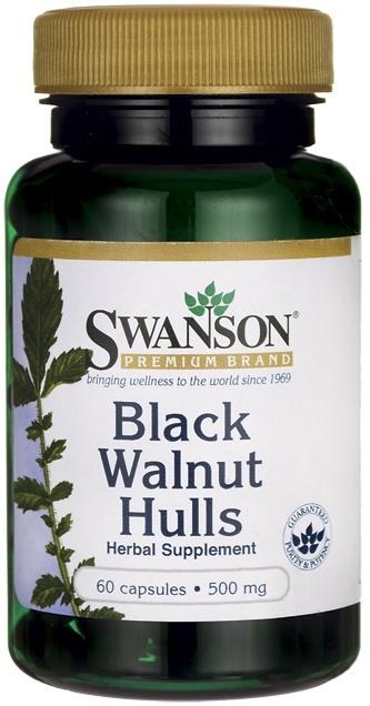 Black Walnut Hulls, 500mg - 60 caps versandkostenfrei/portofrei bestellen/kaufen