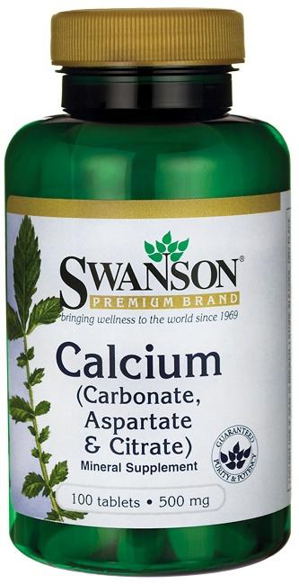 Calcium (Carbonate, Aspartate & Citrate), 500mg - 100 tabs versandkostenfrei/portofrei bestellen/kaufen