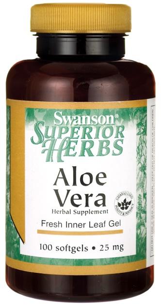 Aloe Vera, 25mg - 100 softgels versandkostenfrei/portofrei bestellen/kaufen