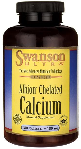 Albion Chelated Calcium, 180mg - 180 caps versandkostenfrei/portofrei bestellen/kaufen