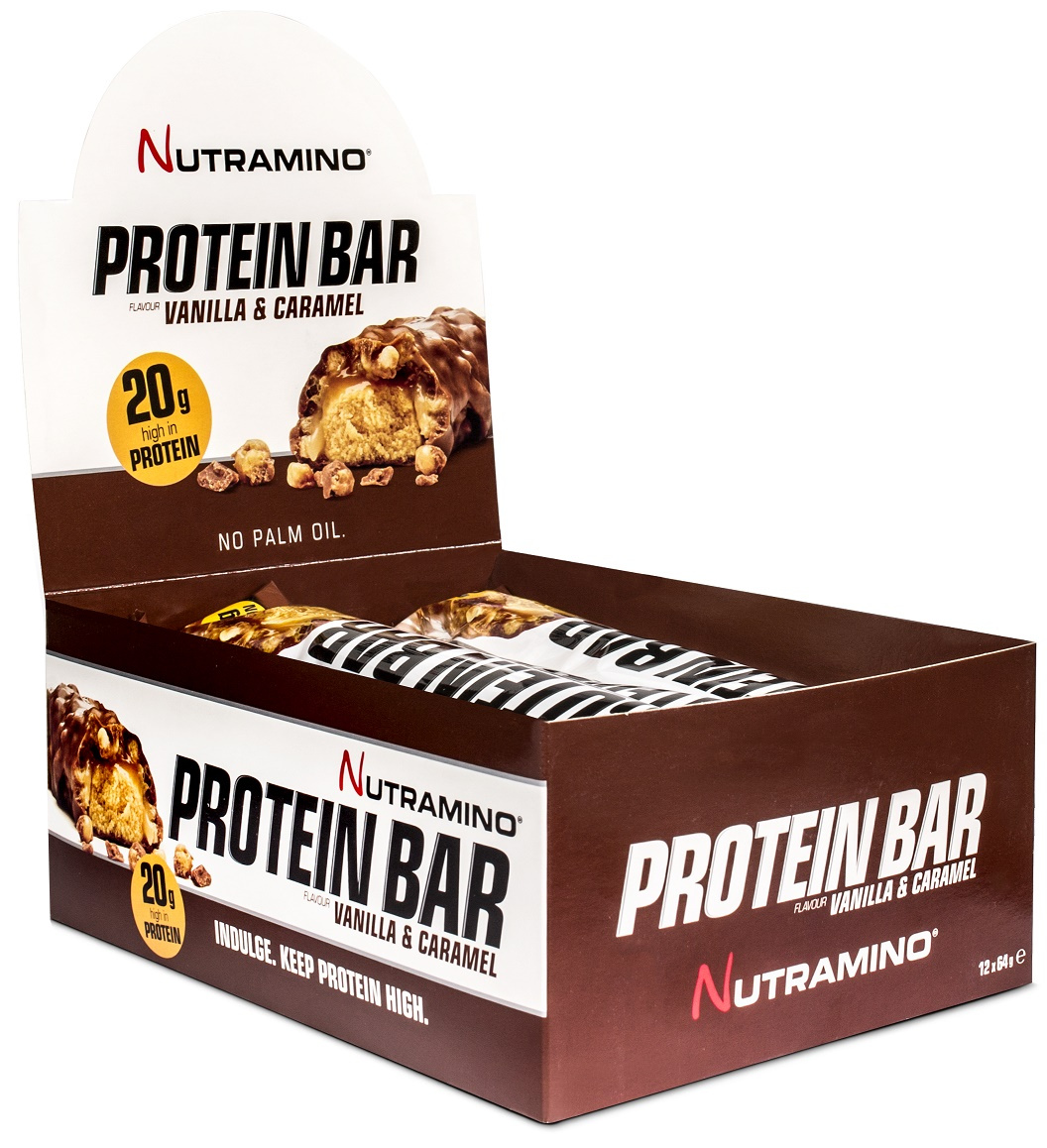 Protein Bar, Vanilla & Caramel - 12 x 64g versandkostenfrei/portofrei bestellen/kaufen