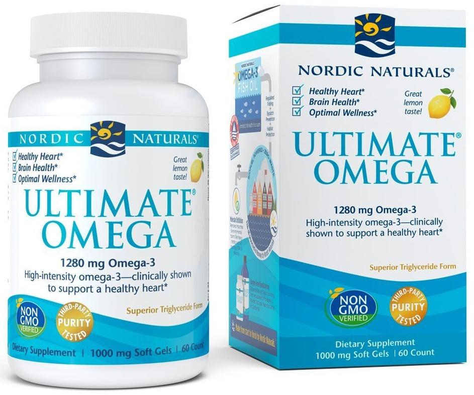 Ultimate Omega, 1280mg Lemon Flavor - 60 softgels versandkostenfrei/portofrei bestellen/kaufen