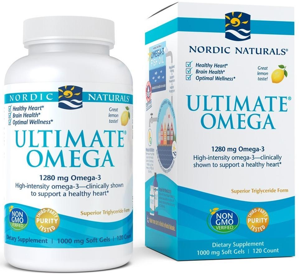 Ultimate Omega, 1280mg Lemon Flavor - 120 softgels versandkostenfrei/portofrei bestellen/kaufen