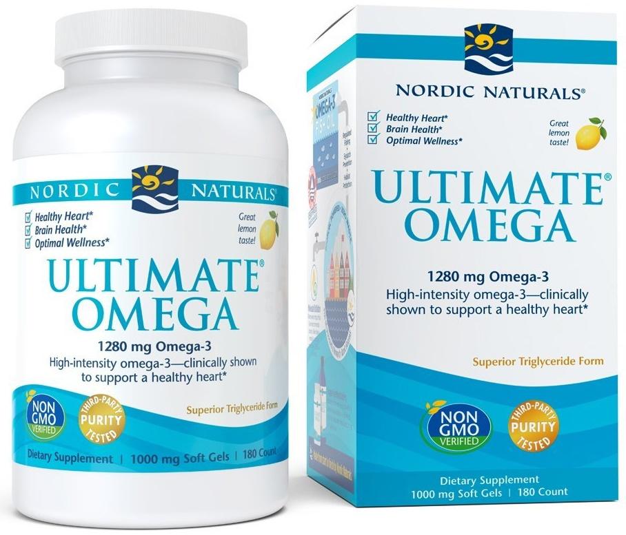 Ultimate Omega, 1280mg Lemon Flavor - 180 softgels versandkostenfrei/portofrei bestellen/kaufen