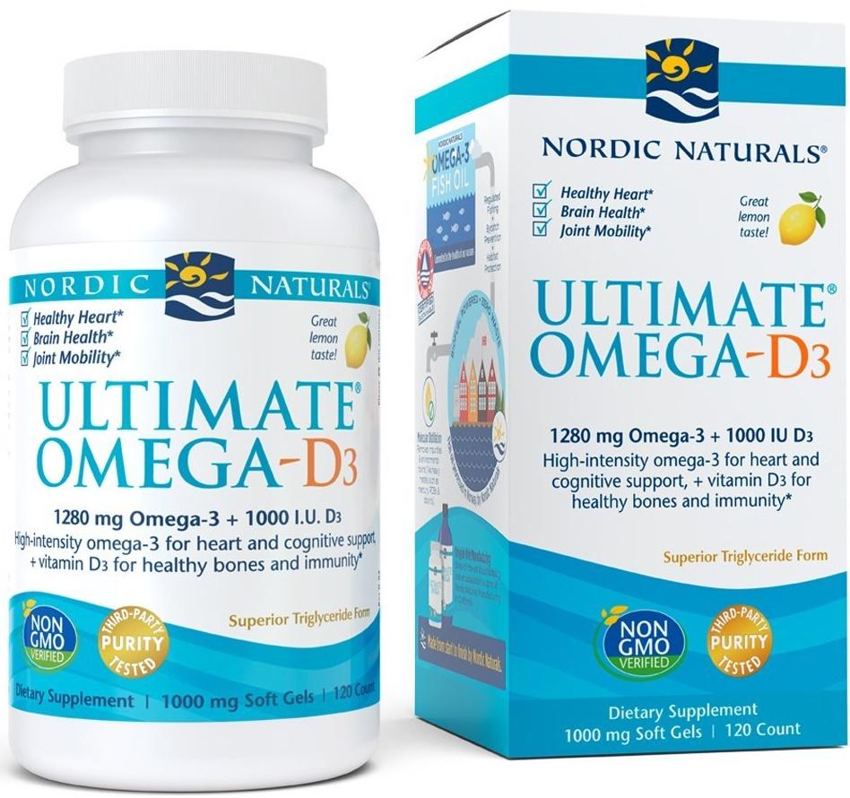 Ultimate Omega-D3, 1280mg Lemon - 120 solfgels versandkostenfrei/portofrei bestellen/kaufen