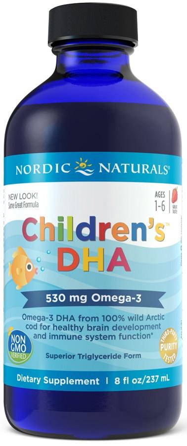 Children's DHA, 530mg Strawberry - 237 ml. versandkostenfrei/portofrei bestellen/kaufen