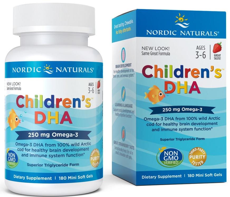 Children's DHA, 250mg Strawberry - 180 softgels versandkostenfrei/portofrei bestellen/kaufen