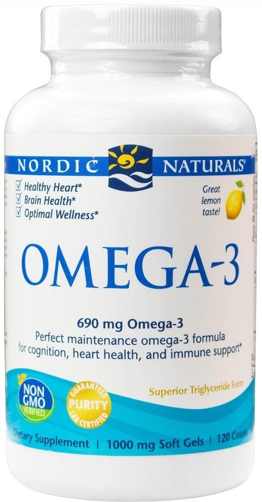 Omega-3, 690mg Lemon - 120 softgels versandkostenfrei/portofrei bestellen/kaufen
