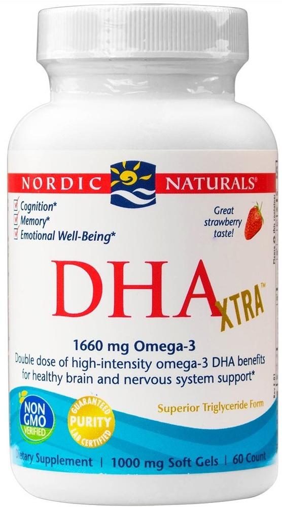 DHA Xtra, 1660mg Strawberry - 60 softgels versandkostenfrei/portofrei bestellen/kaufen
