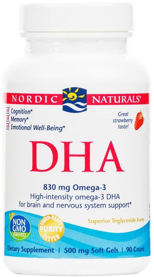DHA, 830mg Strawberry - 90 softgels versandkostenfrei/portofrei bestellen/kaufen