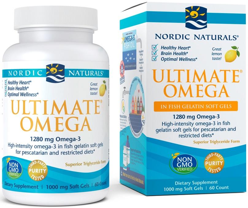 Ultimate Omega, 1280mg Lemon - 60 softgels versandkostenfrei/portofrei bestellen/kaufen
