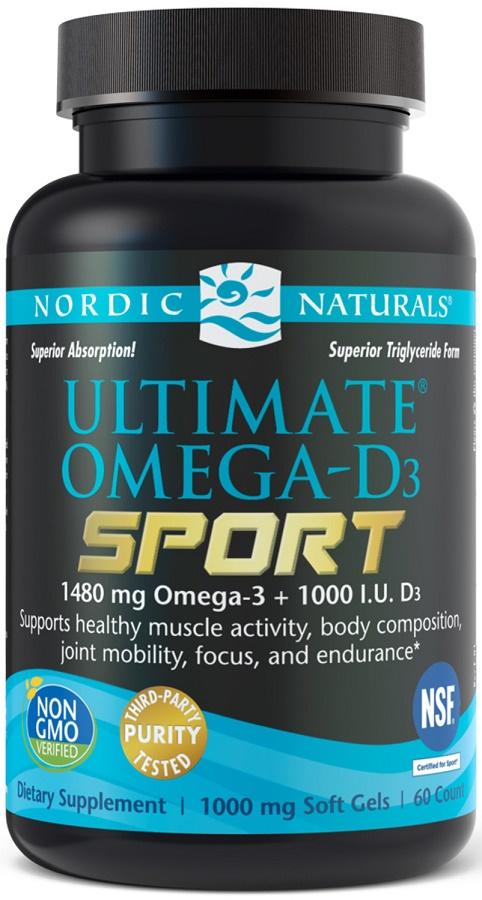 Ultimate Omega-D3 Sport, 1480mg Lemon - 60 softgels versandkostenfrei/portofrei bestellen/kaufen
