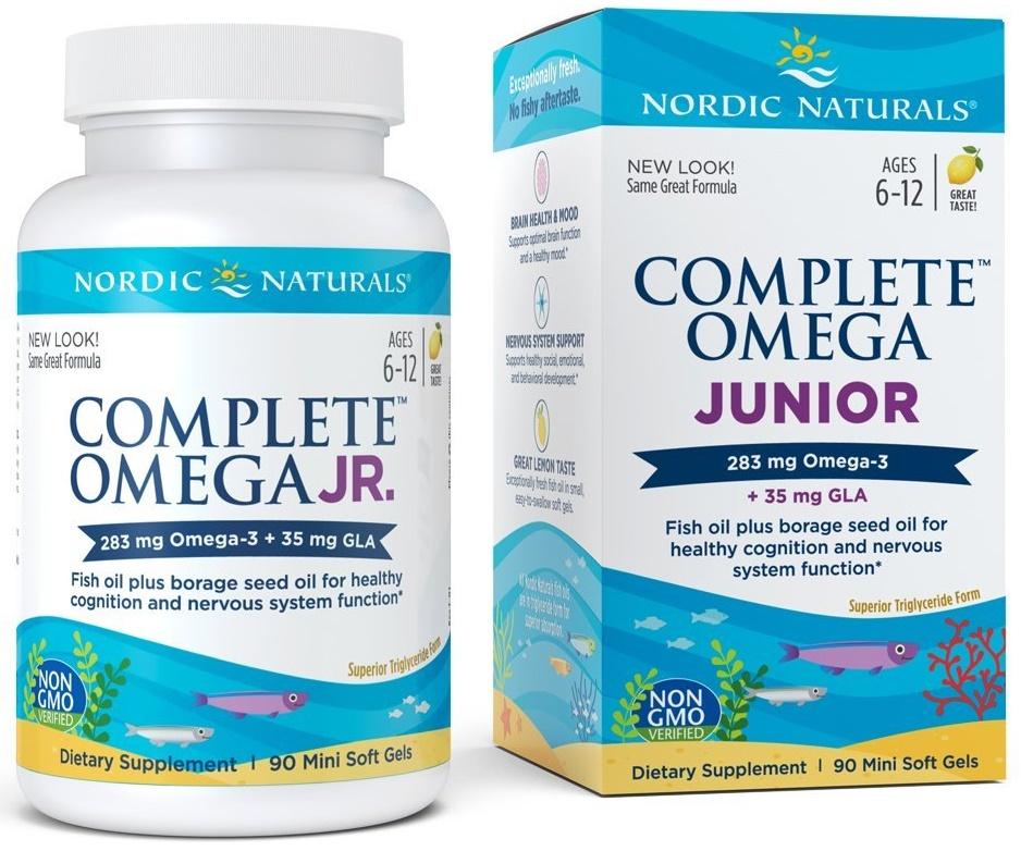 Complete Omega Junior, 283mg Lemon - 90 softgels versandkostenfrei/portofrei bestellen/kaufen