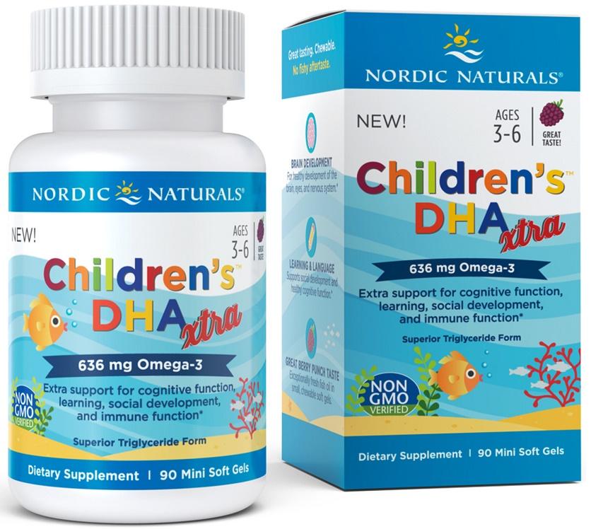 Children's DHA Xtra, 636mg Berry Punch - 90 softgels versandkostenfrei/portofrei bestellen/kaufen