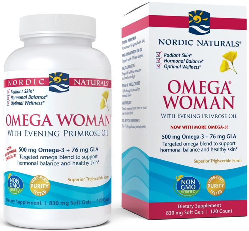 Omega Woman, 500mg - 120 softgels versandkostenfrei/portofrei bestellen/kaufen