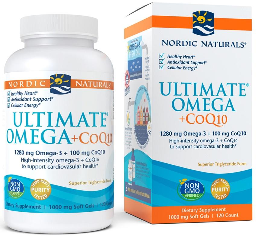 Ultimate Omega + CoQ10, 1280mg - 120 softgels versandkostenfrei/portofrei bestellen/kaufen