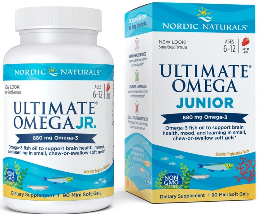 Ultimate Omega Junior, 680mg - 90 softgels versandkostenfrei/portofrei bestellen/kaufen