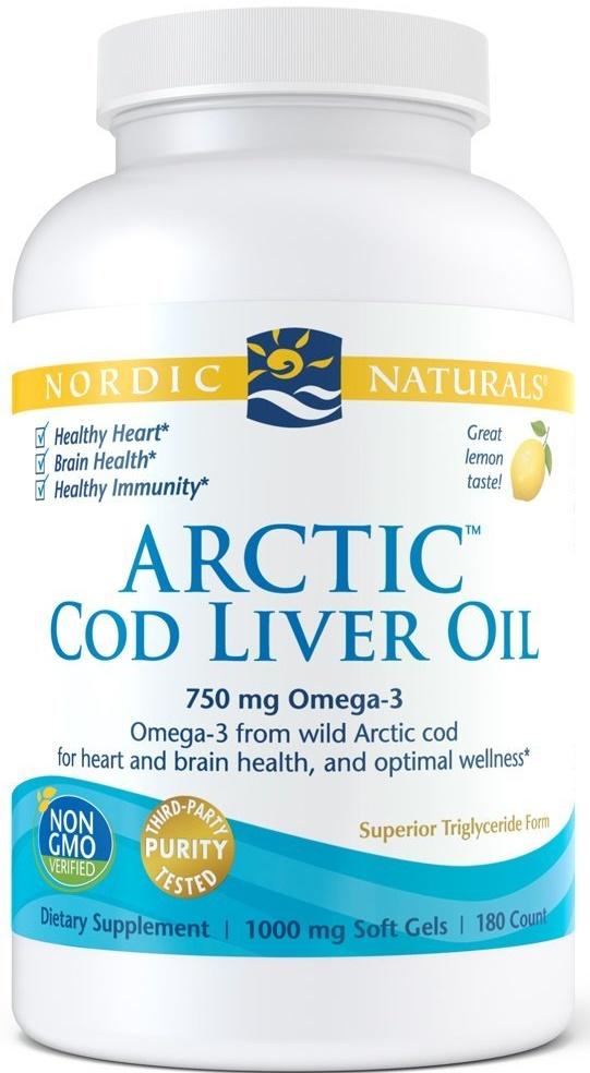 Arctic Cod Liver Oil, 750mg Lemon - 180 softgels versandkostenfrei/portofrei bestellen/kaufen
