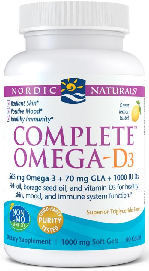 Complete Omega-D3, 565mg Lemon - 60 softgels versandkostenfrei/portofrei bestellen/kaufen