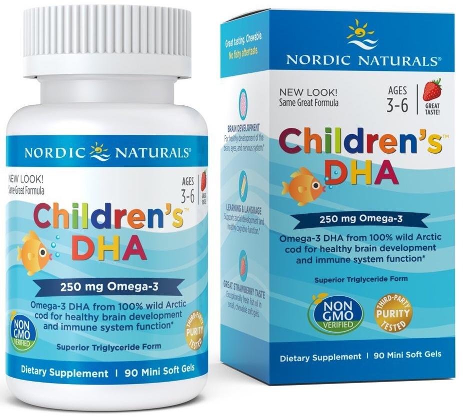 Children's DHA, 250mg Strawberry - 90 softgels versandkostenfrei/portofrei bestellen/kaufen