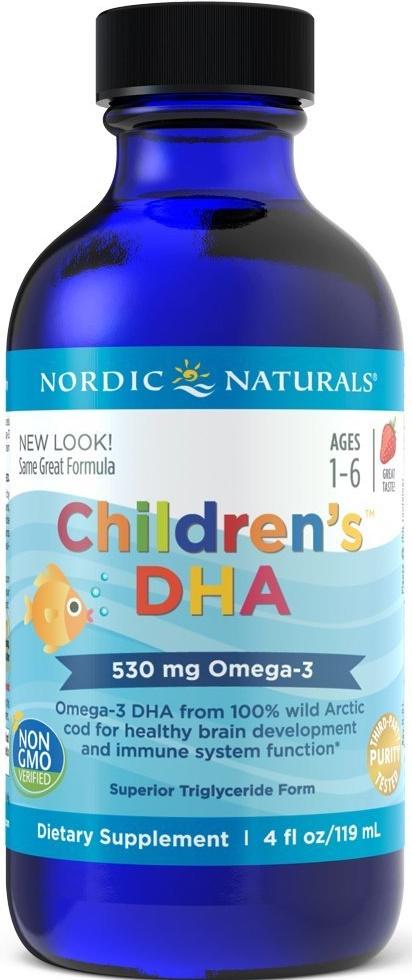 Children's DHA, 530mg Strawberry - 119 ml. versandkostenfrei/portofrei bestellen/kaufen