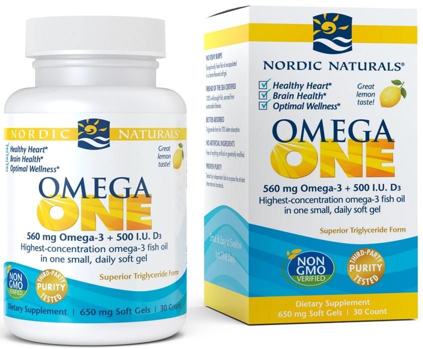 Omega ONE, 560mg Lemon - 30 softgels versandkostenfrei/portofrei bestellen/kaufen