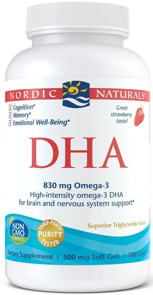 DHA, 830mg Strawberry - 180 softgels versandkostenfrei/portofrei bestellen/kaufen
