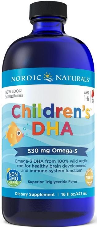Children's DHA, 530mg Strawberry - 473 ml. versandkostenfrei/portofrei bestellen/kaufen