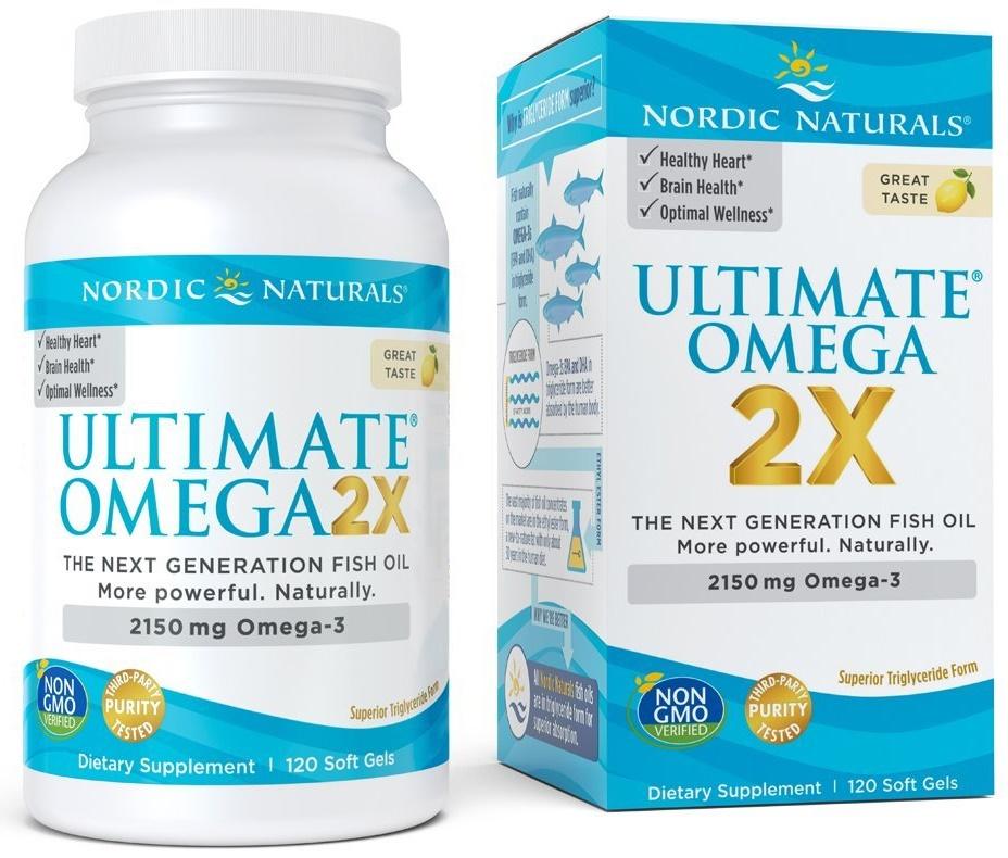 Ultimate Omega 2X, 2150mg Lemon - 120 softgels versandkostenfrei/portofrei bestellen/kaufen