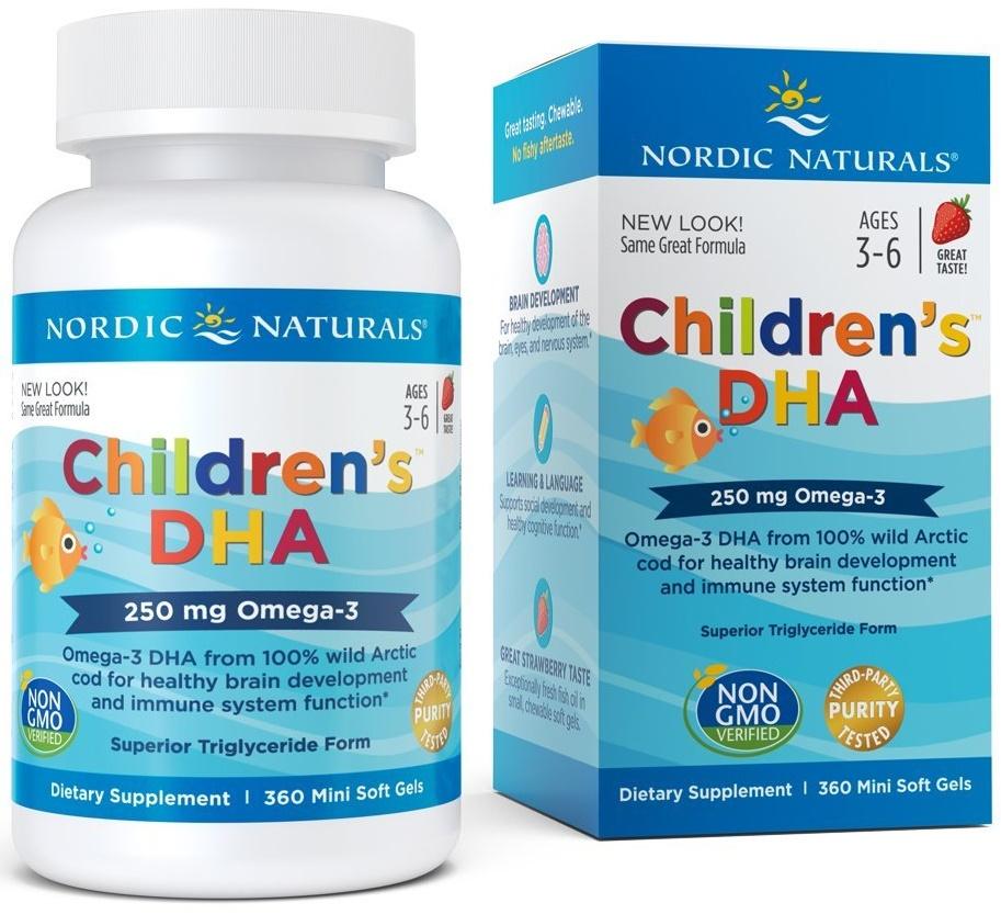 Children's DHA, 250mg Strawberry - 360 softgels versandkostenfrei/portofrei bestellen/kaufen