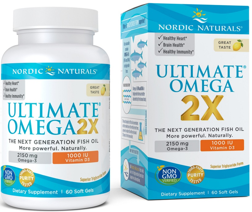 Ultimate Omega 2X with Vitamin D3, 2150mg Lemon - 60 softgels versandkostenfrei/portofrei bestellen/kaufen
