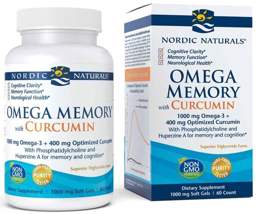 Omega Memory with Curcumin, 1000mg - 60 softgels versandkostenfrei/portofrei bestellen/kaufen