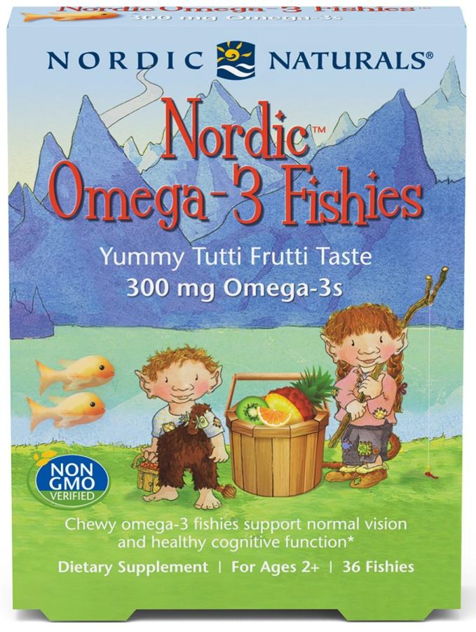Nordic Omega-3 Fishies, 300mg Yummy Tutti Frutti Taste - 36 fishies versandkostenfrei/portofrei bestellen/kaufen
