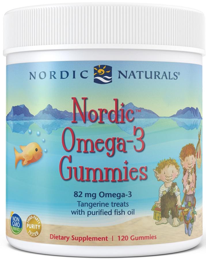 Nordic Omega-3 Gummies, 82mg Tangerine Treats - 120 gummies versandkostenfrei/portofrei bestellen/kaufen