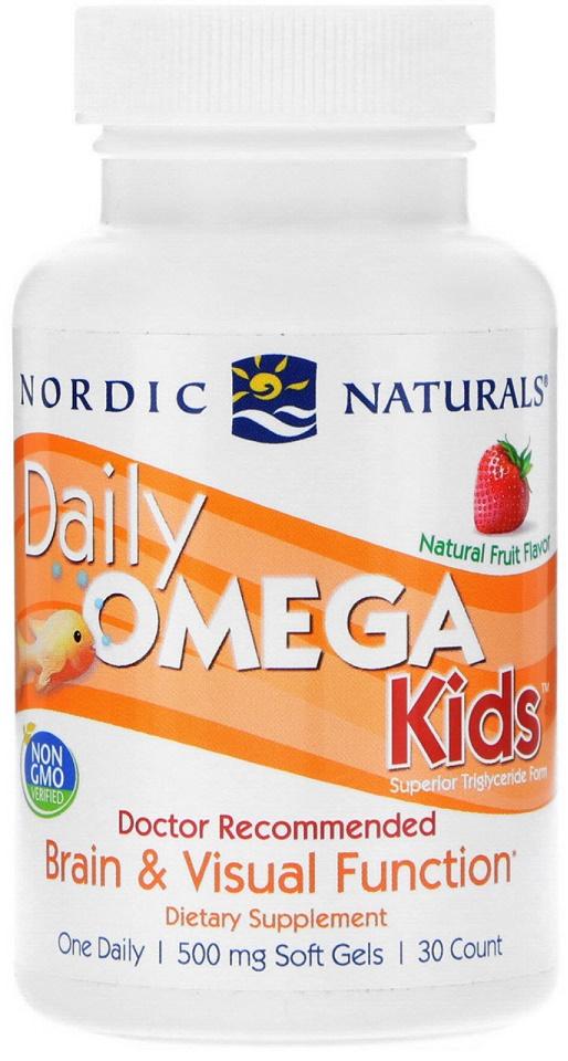 Daily Omega Kids, Natural Fruit Flavor - 30 softgels versandkostenfrei/portofrei bestellen/kaufen